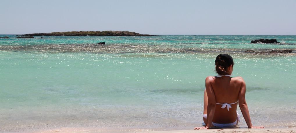 Plaże Elafonisi – najpiękniejsze miejsce na Krecie.